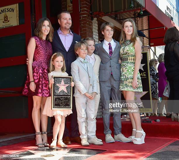 Caroline Fentress Maeve O'Donnell actor Chris O'Donnell Finley O'Donnell Charles O'Donnell Christopher O'Donnell and Lily O'Donnell attend a ceremony...