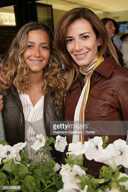 Caroline Ferry and Elsa Fayer visit Roland Garros village during the 2006 French Open tennis