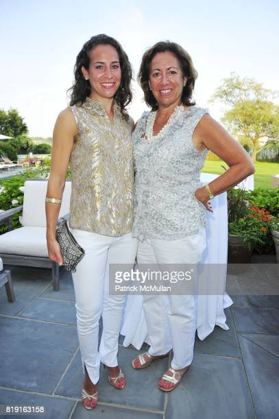 Caroline Finger and Elizabeth Finger attend Summer Reception in Southampton for New YorkPresbyterian Hospital hosted by Heather and Steven Mnuchin...