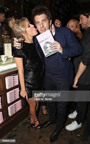 Caroline Flack and guest attend the launch of Caroline Flack's new book Storm In A C Cup at Library on October 21 2015 in London England