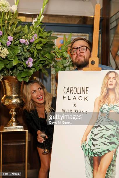 Caroline Flack and Iain Stirling attend a VIP dinner hosted by Caroline Flack to celebrate the launch of her second collection with River Island at...