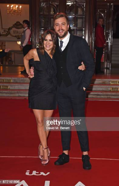 Caroline Flack and Iain Stirling attend the ITV Gala held at the London Palladium on November 9 2017 in London England