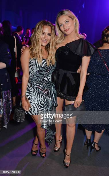 Caroline Flack and Laura Whitmore attend the GQ Men of the Year Awards 2018 in association with HUGO BOSS at Tate Modern on September 5, 2018 in...