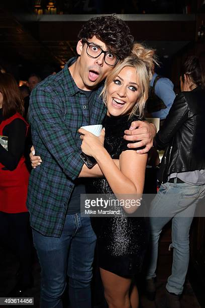 Caroline Flack and Matt Richardson attend the launch of Caroline Flack's new autobiography Storm In A C Cup at Library on October 21 2015 in London...