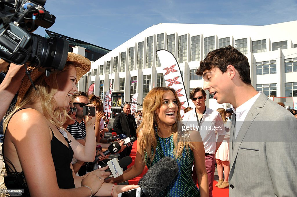 Caroline Flack and Matt Richardson pictured at Wembley Arena for the X Factor auditions on July 15, 2013 in London, England.