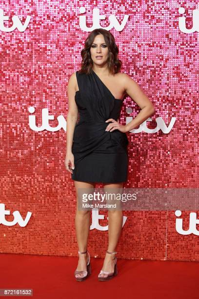 Caroline Flack arrives at the ITV Gala held at the London Palladium on November 9 2017 in London England