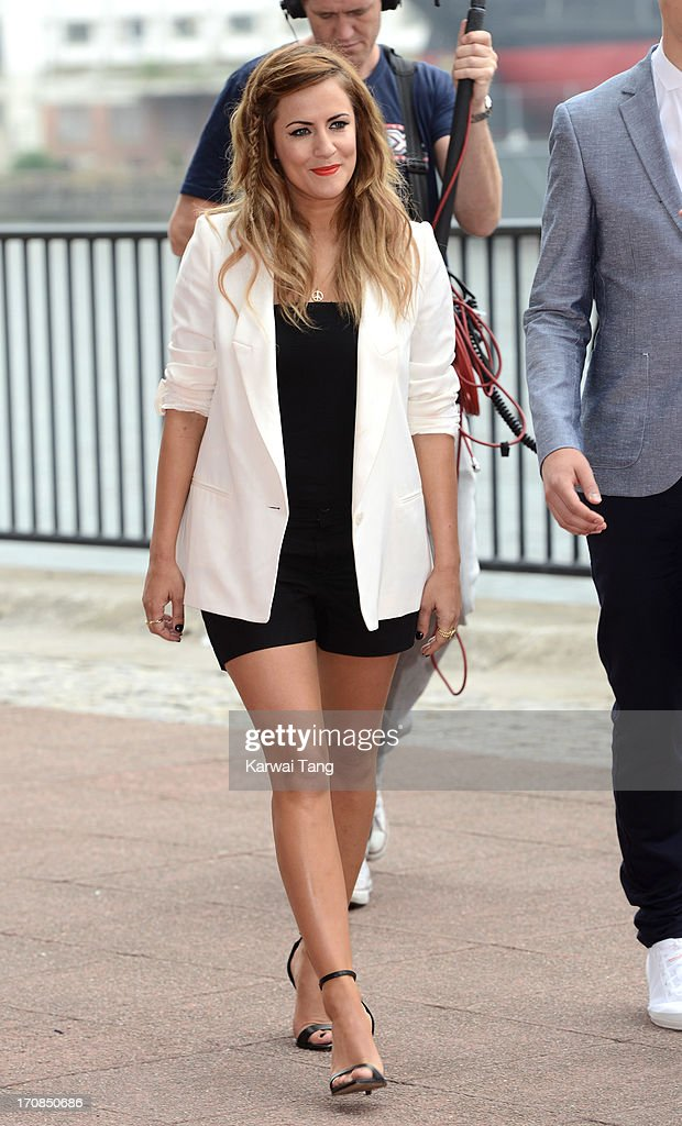 Caroline Flack arrives for the London auditions of 'The X Factor' at ExCel on June 19, 2013 in London, England.