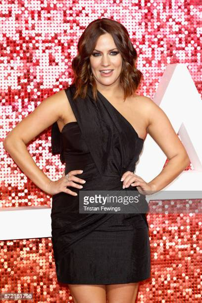 Caroline Flack arriving at the ITV Gala held at the London Palladium on November 9 2017 in London England