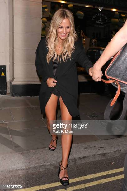 Caroline Flack arriving at Tramp nightclub on August 20 2019 in London England