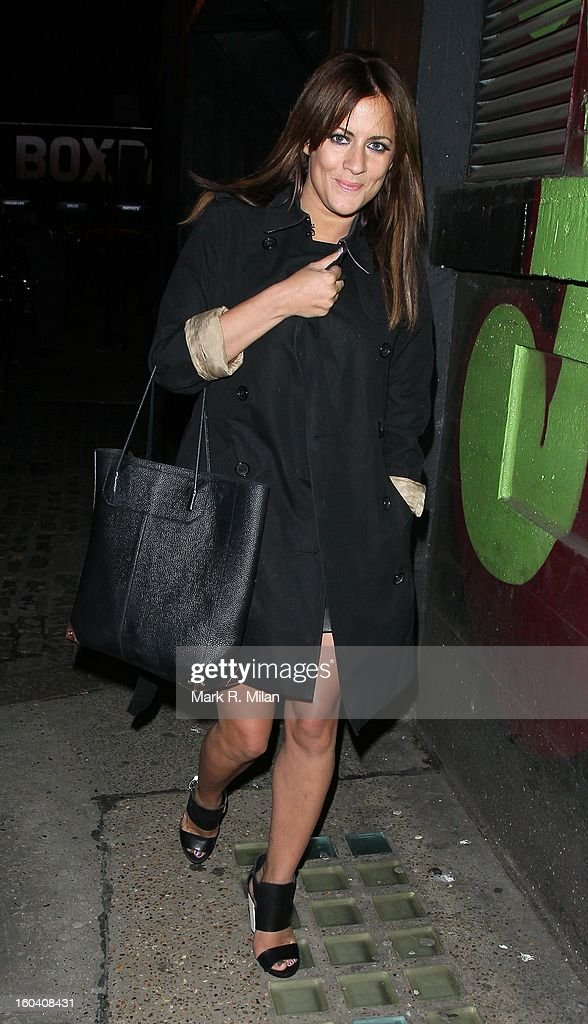 Caroline Flack attending the InStyle Best of British Talent party held at Shoreditch House on January 30, 2013 in London, England.