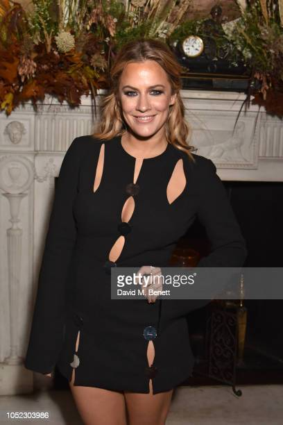 Caroline Flack attends an exclusive dinner hosted by Gizzi Erskine to celebrate the launch of her new book Slow Food Worth Taking Time Over at Home...