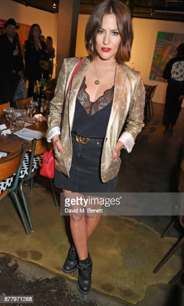 Caroline Flack attends an intimate dinner hosted by Henry Holland and Andrew Nugent to celebrate the House of Holland Resort 18 collection and Bird...