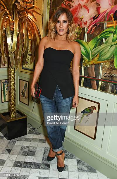 Caroline Flack attends the adidas Originals by Rita Ora dinner at The Ivy Chelsea Garden on November 23 2016 in London England