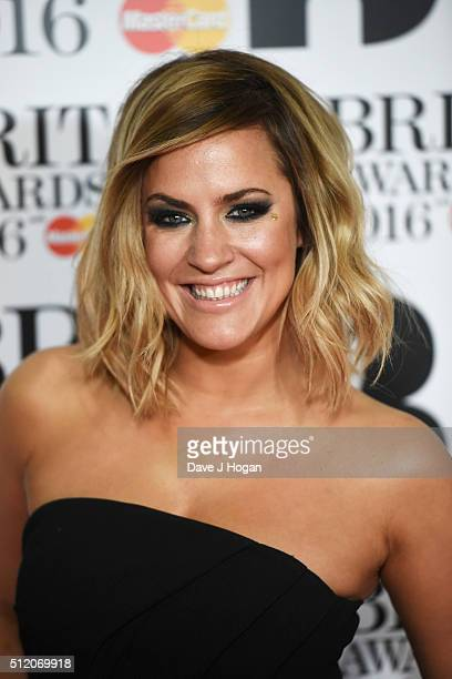 Caroline Flack attends the BRIT Awards 2016 at The O2 Arena on February 24 2016 in London England