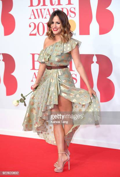AWARDS 2018 *** Caroline Flack attends The BRIT Awards 2018 held at The O2 Arena on February 21 2018 in London England
