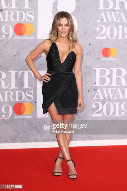 Caroline Flack attends The BRIT Awards 2019 held at The O2 Arena on February 20 2019 in London England