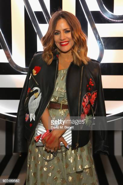 Caroline Flack attends the Brits Awards 2018 After Party hosted by Warner Music Group Ciroc and British GQ at Freemasons Hall on February 21 2018 in...
