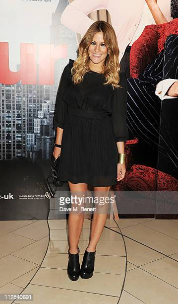 Caroline Flack attends the European Premiere of 'Arthur' held at The Cineworld O2 on April 19 2011 in London England