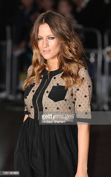 Caroline Flack attends the European premiere of 'Despicable Me' at Empire Leicester Square on October 11 2010 in London England