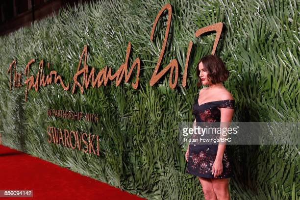 Caroline Flack attends The Fashion Awards 2017 in partnership with Swarovski at Royal Albert Hall on December 4 2017 in London England