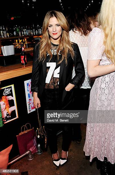 Caroline Flack attends the Fudge Urban Lou Teasdale Book Launch party on March 25 2014 in London United Kingdom