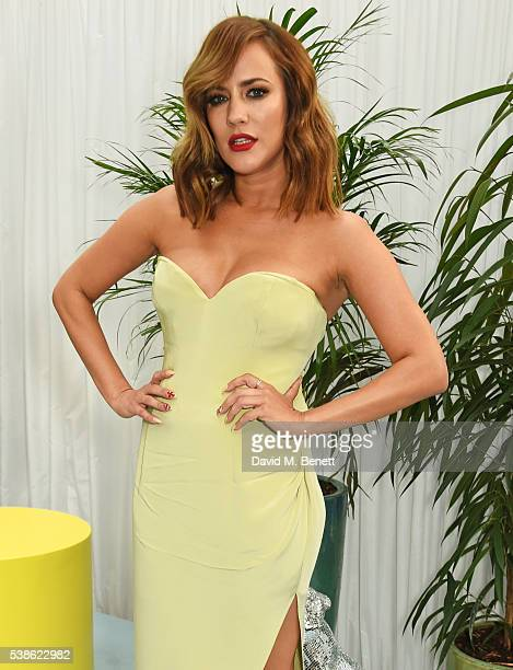 Caroline Flack attends the Glamour Women Of The Year Awards in Berkeley Square Gardens on June 7 2016 in London United Kingdom