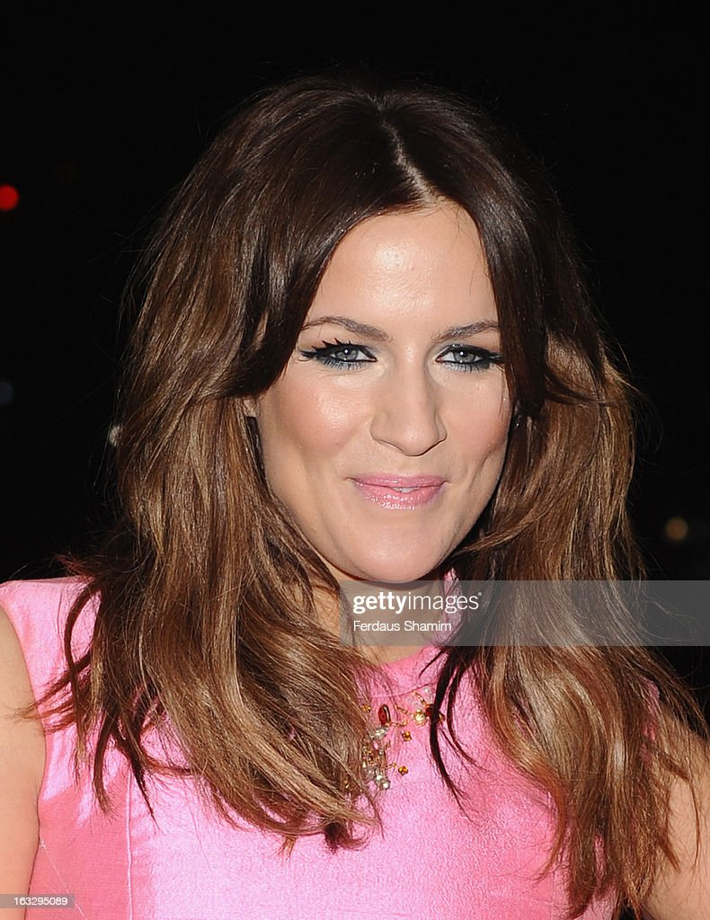 Caroline Flack attends the Helping Hands VIP fundraising dinner in aid of WellChild at The Savoy Hotel on March 7, 2013 in London, England.