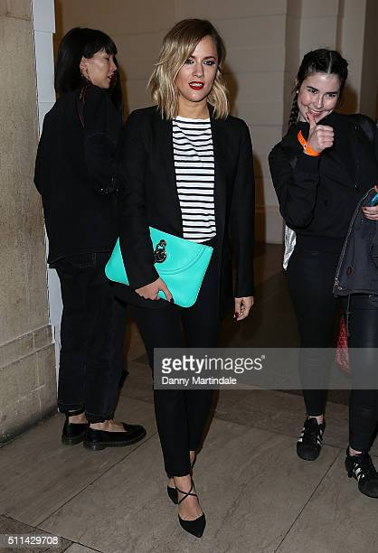 Caroline Flack attends the House of Holland show during London Fashion Week Autumn/Winter 2016/17 at on February 20 2016 in London England