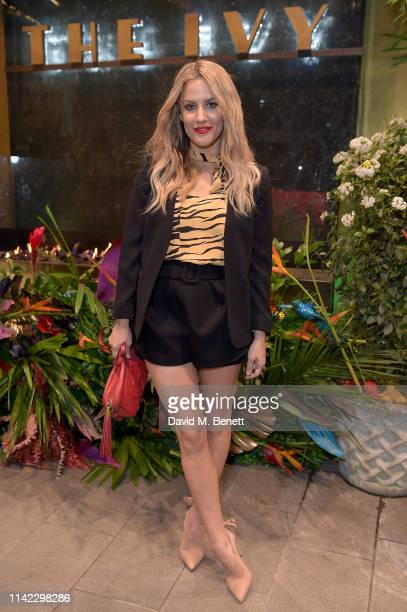 Caroline Flack attends The Ivy Spinningfields Manchester Super Party on April 12 2019 in Manchester England