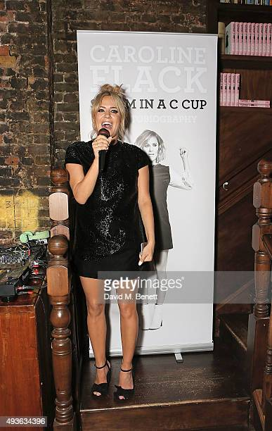 Caroline Flack attends the launch of Caroline Flack's new book Storm In A C Cup at Library on October 21 2015 in London England