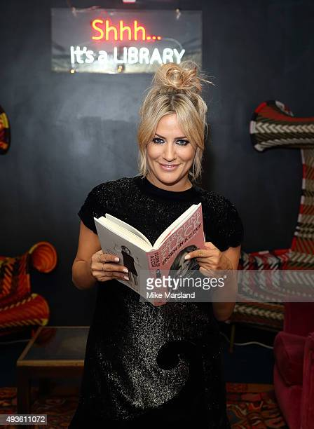 Caroline Flack attends the launch of Caroline Flack's new autobiography Storm In A C Cup at Library on October 21 2015 in London England