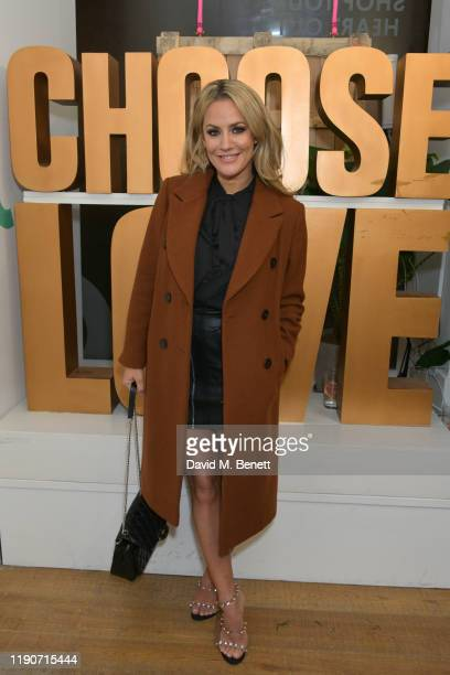 Caroline Flack attends the launch of the annual 'Choose Love' shop for Help Refugees on November 28 2019 in London England