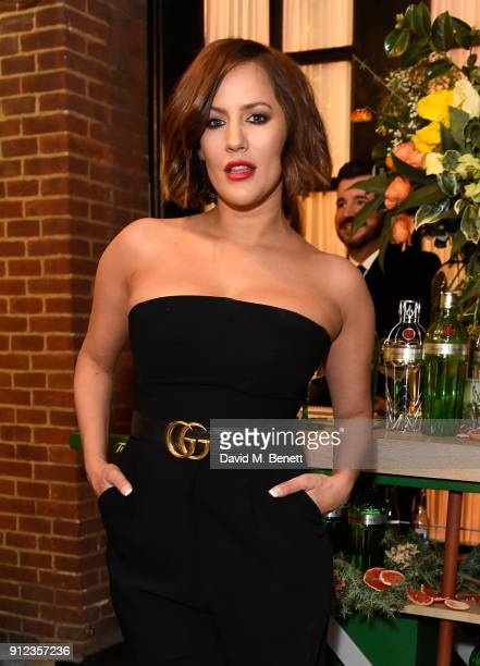 Caroline Flack attends the launch of The Tanqueray No TEN Table at Dalloway Terrace hosted by Gizzi Erskine on January 30 2018 in London England