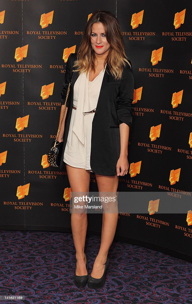 Caroline Flack attends the RTS Programme Awards at Grosvenor House, on March 20, 2012 in London, England.