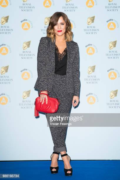 Caroline Flack attends the RTS Programme Awards held at The Grosvenor House Hotel on March 20 2018 in London England