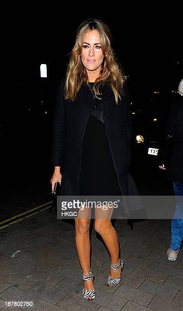 Caroline Flack attends the Tunnel of Love fundraiser in aid of the British Heart Foundation at One Mayfair on November 12 2013 in London England