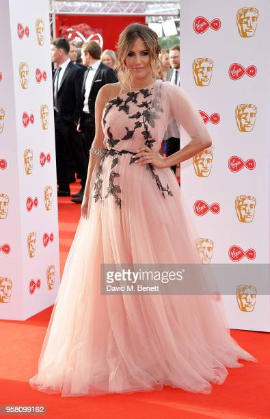 Caroline Flack attends the Virgin TV British Academy Television Awards at The Royal Festival Hall on May 13 2018 in London England
