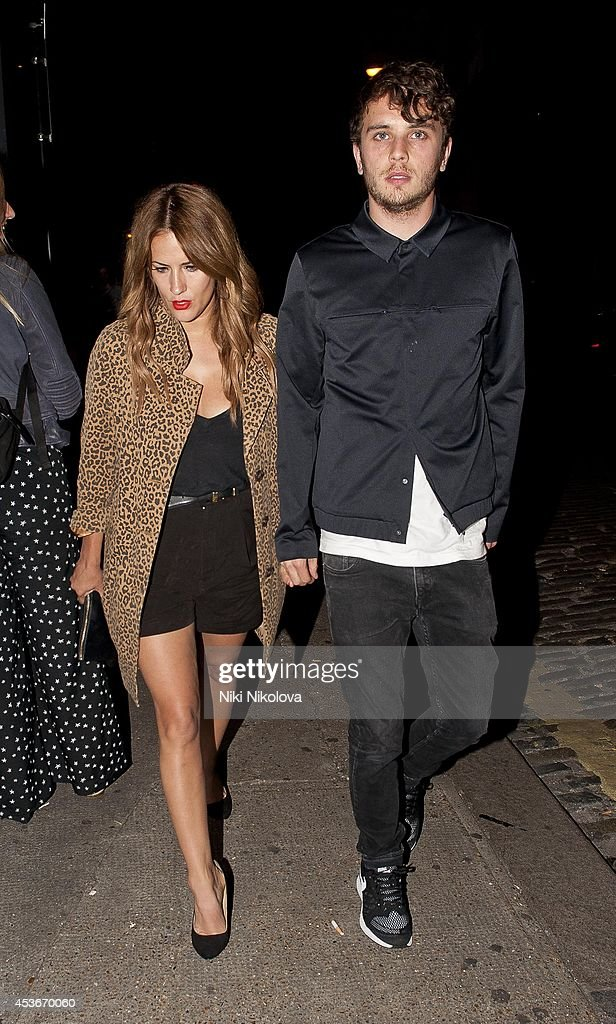 Caroline Flack is seen arriving at Shorditch House on August 15, 2014 in London, England.