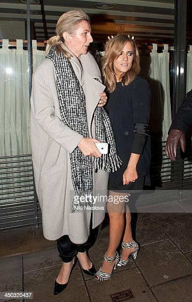 Caroline Flack is seen leaving Ciriani restaurant Mayfair on November 17 2013 in London England
