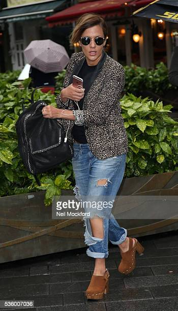 Caroline Flack seen at Global Radio Studios on May 31 2016 in London England