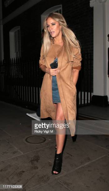 Caroline Flack seen attending Channel 4 summer party at Soho House Dean Street on September 25 2019 in London England