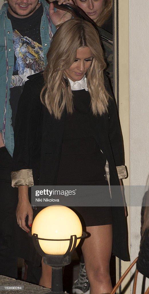 Caroline Flack sighting on October 6, 2012 in London, England.