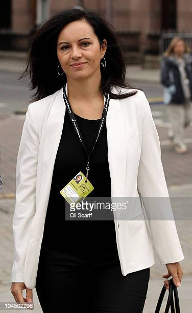 Caroline Flint MP arrives for the third day of the Labour party conference at Manchester Central on September 28 2010 in Manchester England The new...
