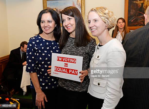 Caroline Flint MP Liz Kendall MP and Emma Reynolds MP join stars of West End musical 'Made In Dagenham' Grazia Magazine and UNITE to celebrate...