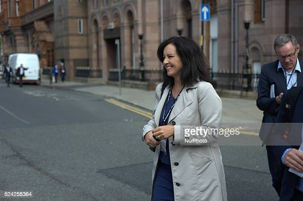 Caroline Flint MP shadow secretary of state for the Energy and Climate Change at the 2014 Labour Party conference in Manchester UK
