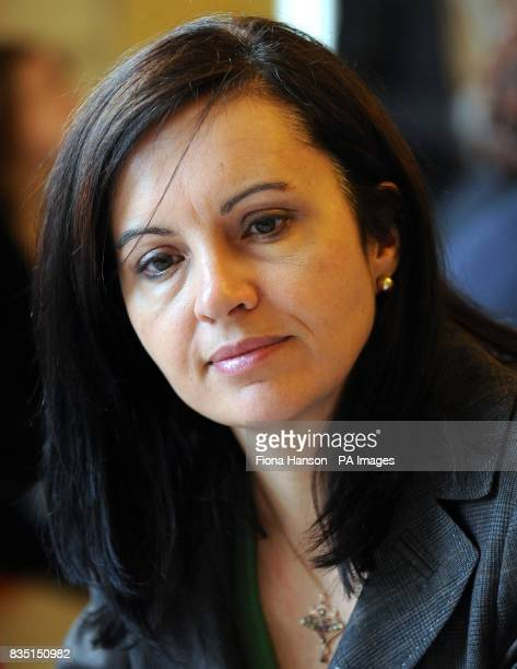 Caroline Flint the Minister for Europe at the Foreign and Commonwealth Office attends a Women and the Recession roundtable discussion at 11 Downing...