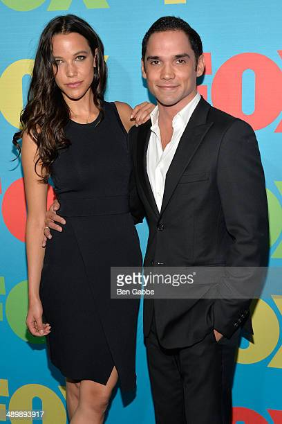 Caroline Ford and Reece Ritchie attend the FOX 2014 Programming Presentation at the FOX Fanfront on May 12 2014 in New York City