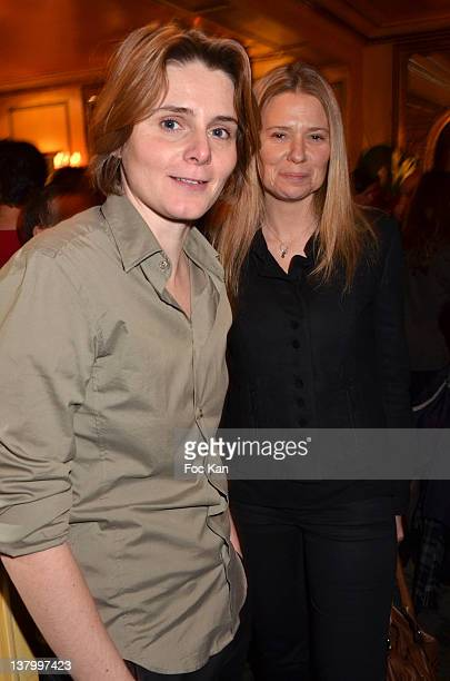 Caroline Fourest and Aude Lancelin attend the Procope Des Lumieres' Literary Awards First Edition at the Procope on January 30 2012 in Paris France