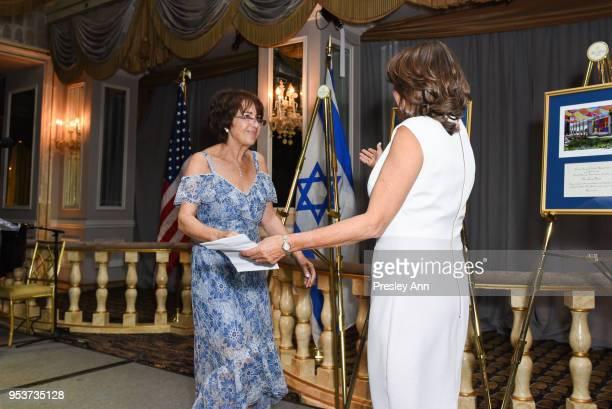 Caroline Freidfertig and Rosalind Franklin attend American Friends Of Soroka 6th Annual Gala Benefit Dinner on May 1 2018 in New York City