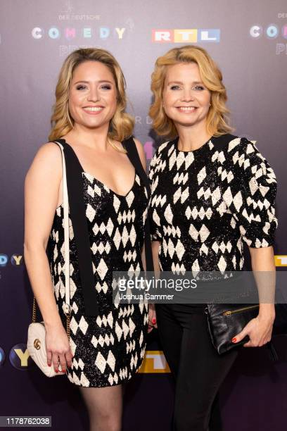 Caroline Frier and Annette Frier attend the 23rd annual German Comedy Awards at Studio in Köln Mühlheim on October 02, 2019 in Cologne, Germany.
